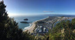 Looking out from the summit of Mauao (Mount Maunganui)