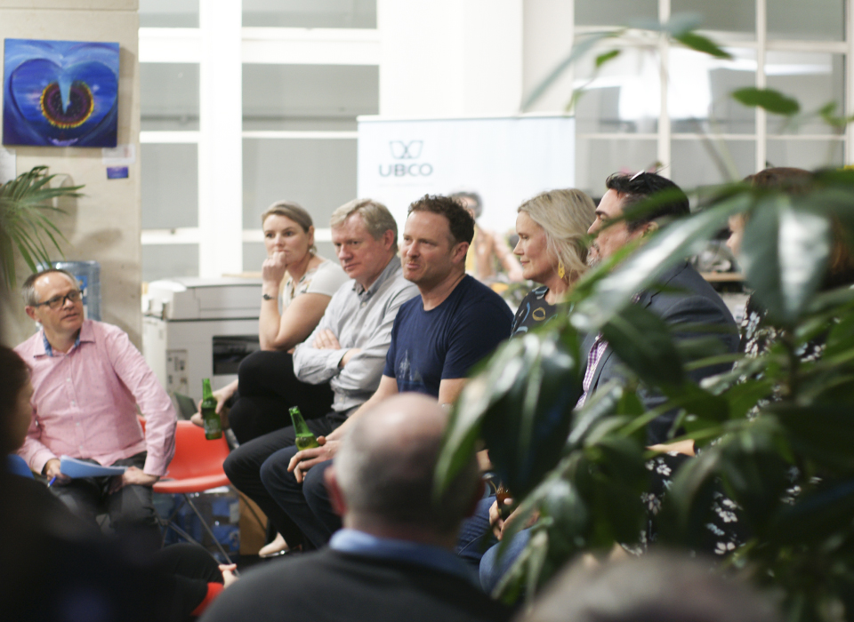 Dr Matt Glenn CEO – Robotics Plus, Greg Jarvis CEO – Bluelab, Timothy Allan CEO – UBCO Bikes, Dr Juliet Ansell Innovation Manager – Zespri International